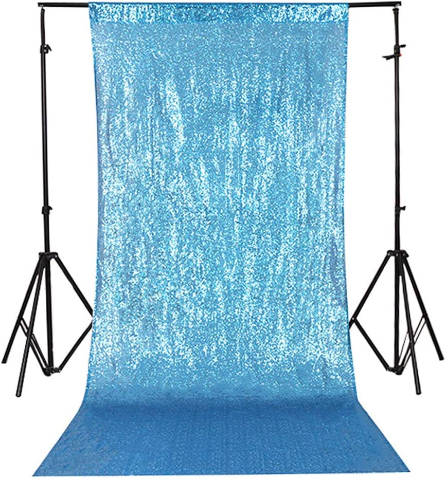 TRLYC 4FTx7FT Sparkly Royal Blue Wedding Party Sequin Backdrop Sequin Curtain
