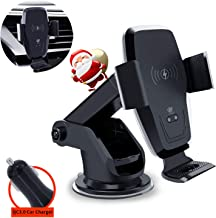 Wireless Car Charger,KAIHDA 10W Qi Fast Charging Auto-Clamping Car Mount,Windshield Dash Air Vent Phone Holder Compatible iPhone 11/11 Pro/11 Pro Max/Xs MAX/XS/XR/X/8/8+,Samsung S10/S10+/S9/S9+/S8/S8+