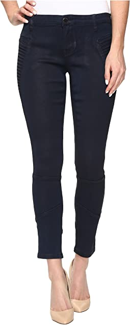 Navy Blue Moto Skinny in Midnight Ink