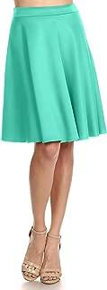 Women's Midi Skater Skirt Flared Stretch Skirt for Women Reg & Plus Size - Made in USA