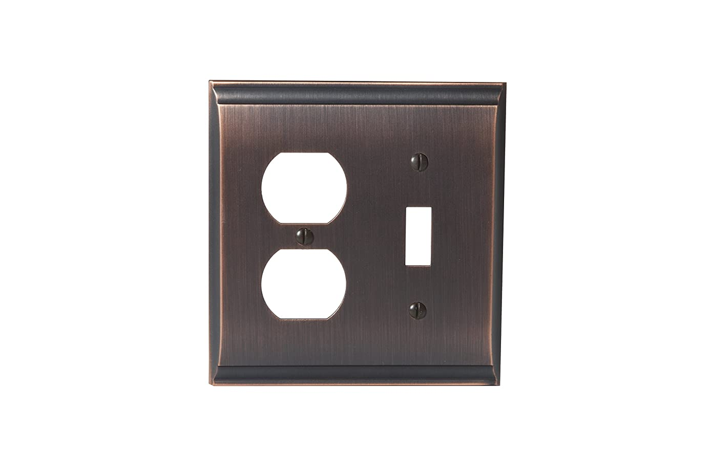 Amerock BP36510ORB Candler 1 Toggle, 1 Receptacle Wall Plate - Oil-Rubbed Bronze