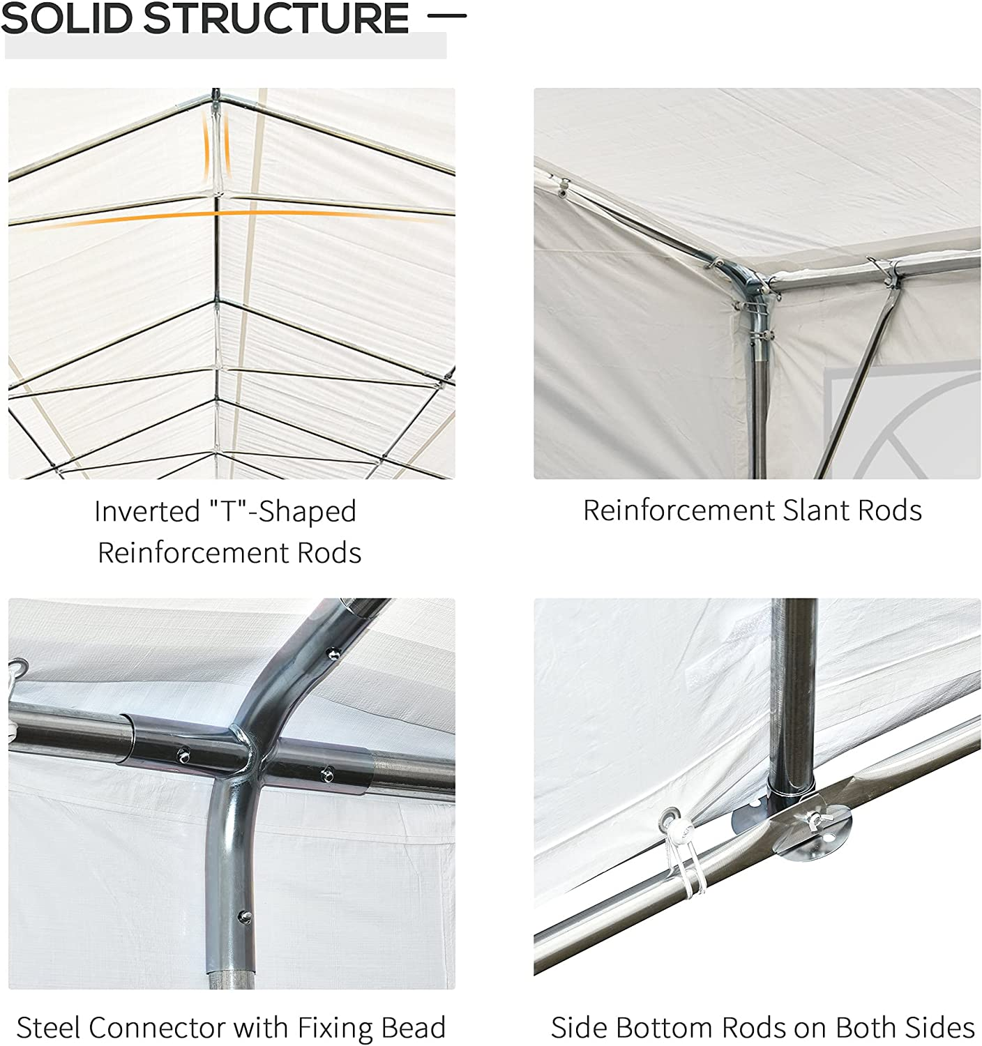Buy Outsunny 20 X 40 Heavy Duty Carport Commercial Party Canopy With Removable Sidewalls And Windows White Online In Turkey B01n4pvzr2