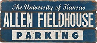 Open Road Brands University of Kansas Allen Fieldhouse Parking MDF Wood Signs & Wall Art - an Officially Licensed Product Great Addition to Add What You Love to Your Home/Garage Decor