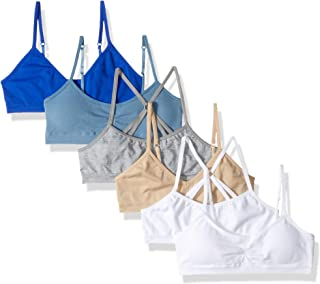 Hanes Girls' Big Seamless Pullover Bras Variety 6-Pack