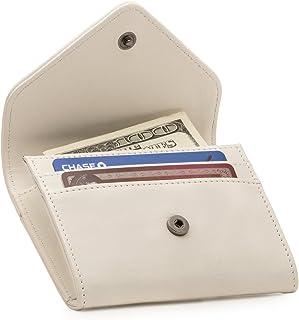 Otto Angelino - Monedero y Organizador de Tarjetas de crédito de Cuero - Bloqueo RFID - Unisex (Blanco)