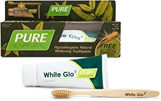White Glo Pure and Natural Whitening Toothpaste With Organic Camomile, Premium Vegan-Friendly Toothpaste Free From Harsh C...