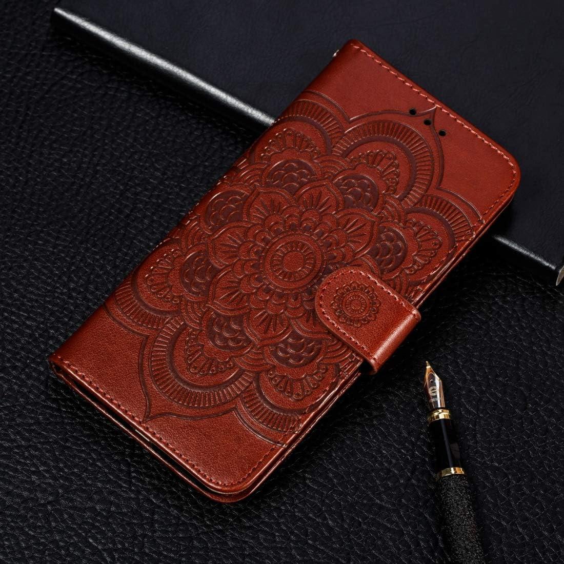 Now free shipping Mobile Phone Max 75% OFF Case Great Mandala Embossing Pattern Horizontal Fli
