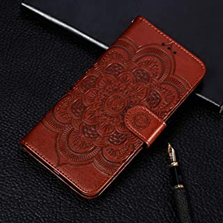 Good Mandala Embossing Pattern Horizontal Flip Leather Case for Samsung Galaxy A70, with Holder & Card Slots & Wallet & Photo Frame & Lanyard(Rose Gold) Starxx (Color : Brown)