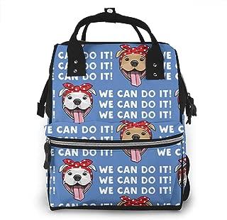 Dog Blue Multi-Function Travel Backpack Nappy Bag,Fashion Mummy Bag
