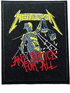 American Metal Band and Justice for All Rock Music Heavy Metal Logo Patch Embroidered Sew Iron On Patches Badge Bags Hat J...