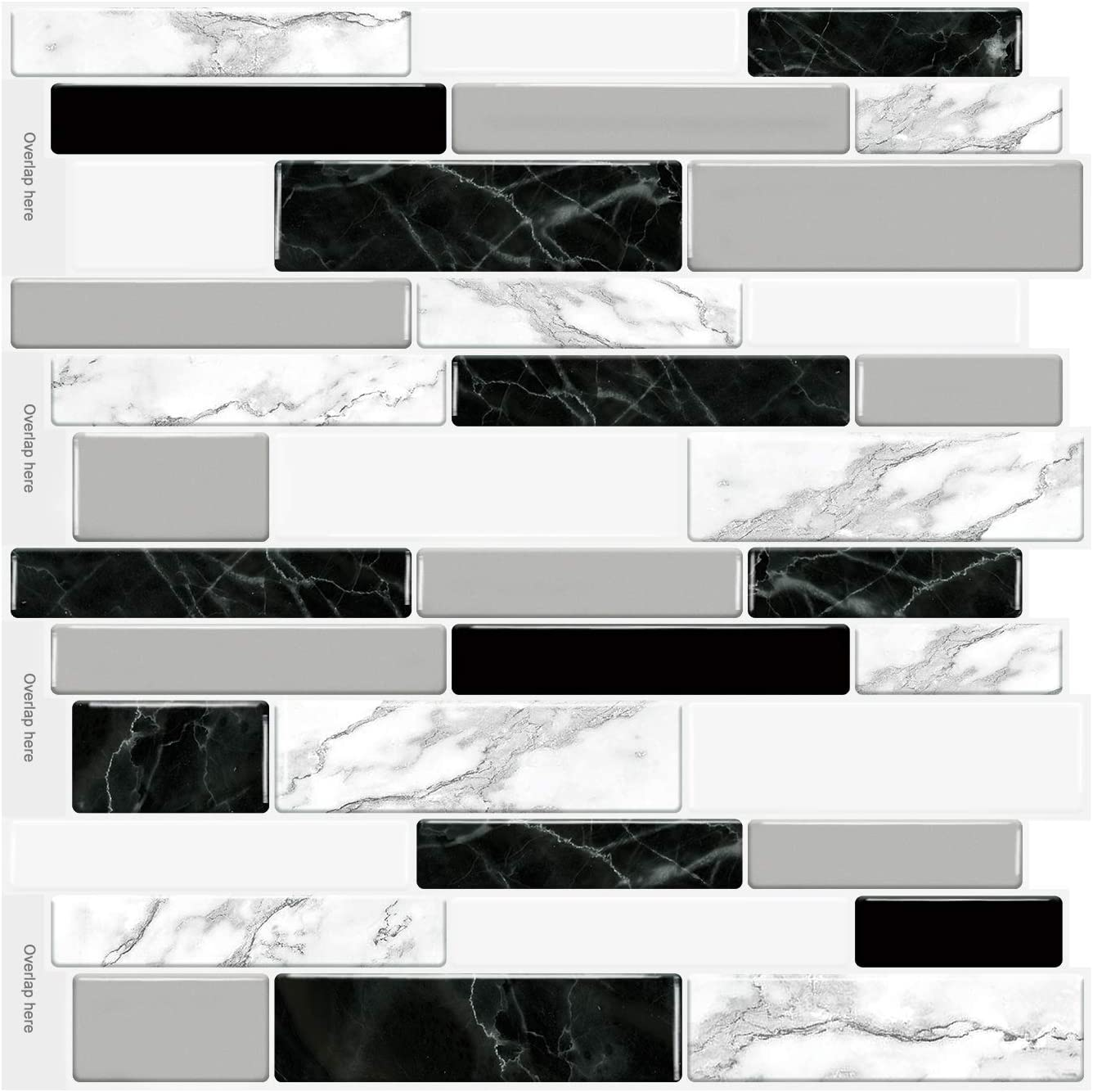 Fabulous Décor Self-Adhesive Tiles 3D D GEL Atlanta Mall Easy store Decals 1mm