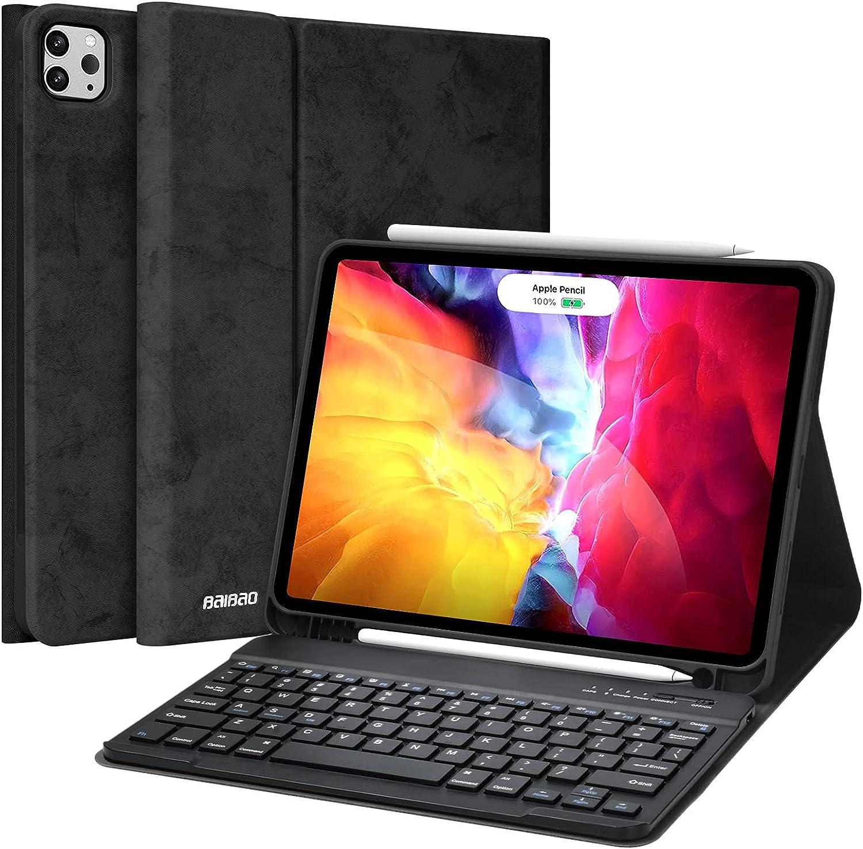 iPad Pro 11 Case with Keyboard, Keyboard for iPad Pro 11 2021(3rd Generation, 2nd Gen/1st Gen),Detachable Wireless Bluetooth Keyboard,iPad Case for iPad Pro 11 Keyboard(Black)