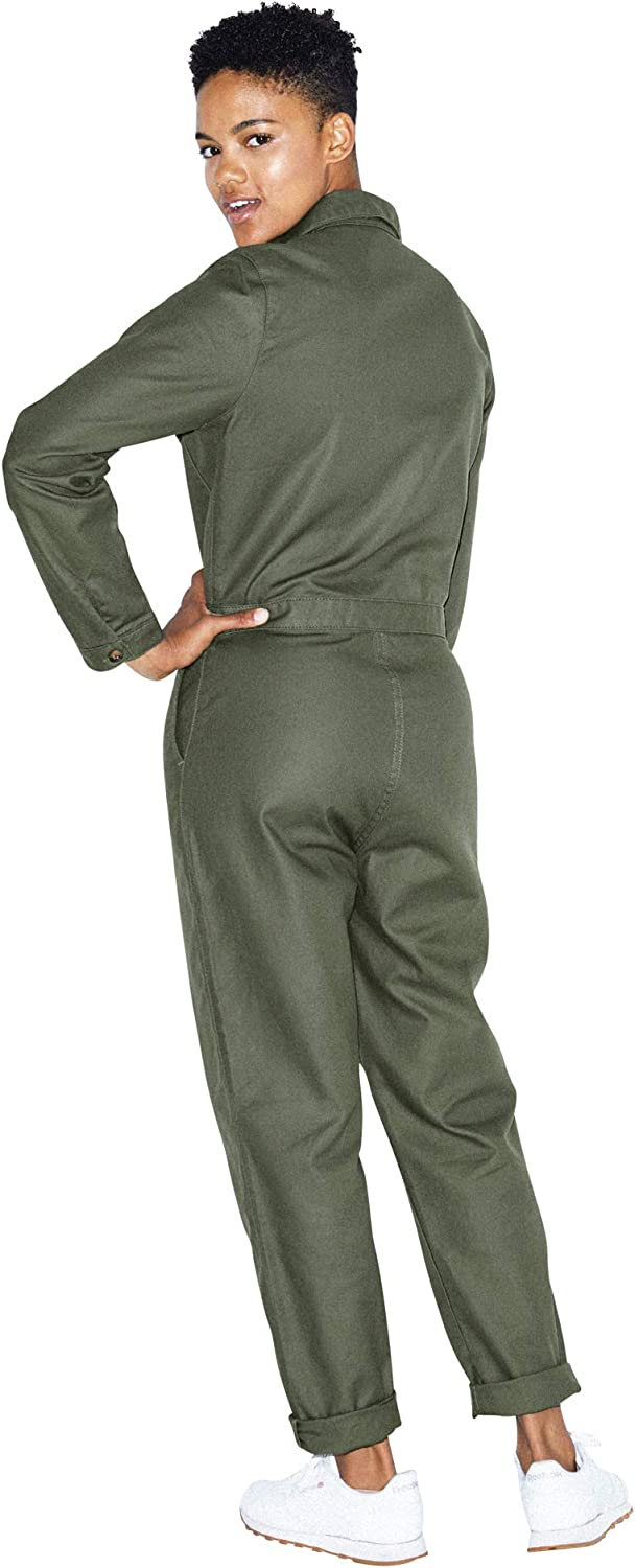American Apparel Womens Long Sleeve Twill Coverall
