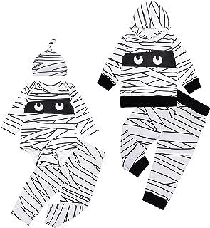 مجموعة أزياء مومياء ماي فيرست هالوين للأطفال الأولاد والبنات الرضع مع قبعة