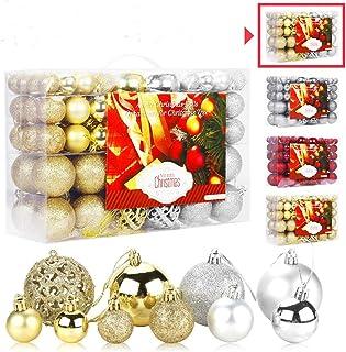 Aitsite 100PCS Bolas de Navidad 6 cm Bolas de árbol de Navidad Adorno de Pared Colgante de Pared Adornos Decoraciones Árbo...
