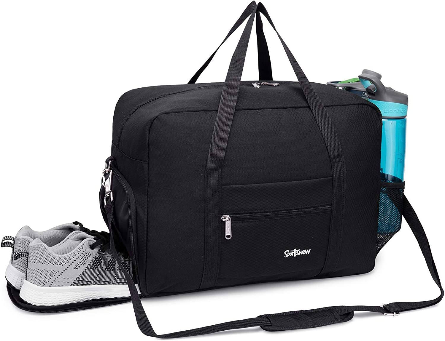 Travel Duffel Bag for Men and Women Lightweight Sports Gym Bag with Wet Pocket /& Shoes Compartment
