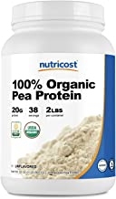 Nutricost Organic Pea Protein Isolate Powder (2LBS) - Unflavored, Certified USDA Organic, Protein from Plan...