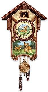 The Bradford Exchange Linda Picken's Charming Chihuahuas Wooden Cuckoo Clock