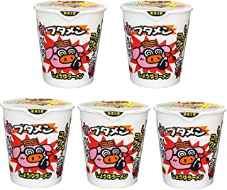 Butamen Soy Sauce Taste 1.1oz 5pcs Japanese Cup Noodle Ramen Oyatsu Company Ninjapo