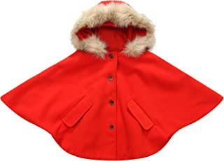 Richie House Little Girls Padding Jacket with Faux Fur Collar Rh1299 Size 2-10y