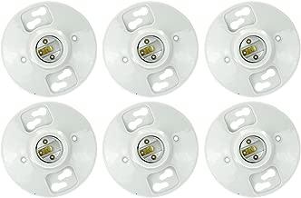 SUNQN E196/6PK Sunlite E196 Porcelain Lamp Holder Outlet Box Mount, 6 Pack,