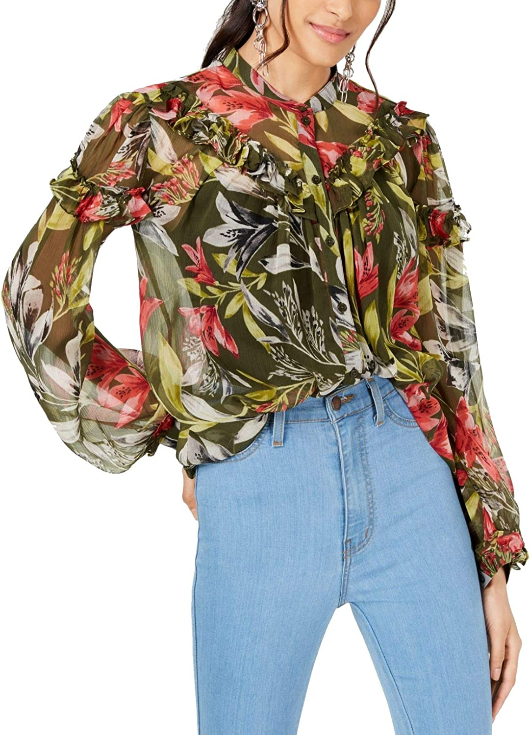 French Connection Women's Crinkle Printed Blouse