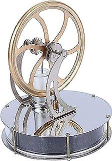 Yosoo スターリングエンジン キット 温冷両用 長時間回ります 機械専攻 低温度型 永久機関 熱気スターリングエンジン 低温モータモデル エンジン おもちゃ スチールモーター Stirling Engine 知育玩具 蒸気教育 低温タイプ スターリング エンジン 新年 入学式 バレンタイン 誕生日 クリスマスプレゼント 熱蒸気 DIY