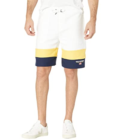 Polo Ralph Lauren 7.5 Polo Sport Fleece Shorts (White Multi) Men
