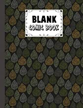 Blank Comic Book: Premium Dark Leaf Cover Blank Comic Book, Create Your Own Story, Journal, Notebook, Sketchbook for Kids ...