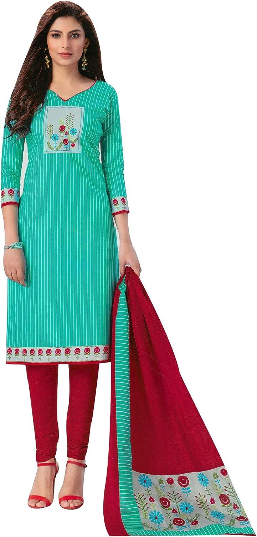 ladyline Cotton Printed Salwar Kameez Salwar Kameez for Women with Cotton Dupatta Indian Dress