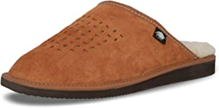 FOOTHUGS Mens Suede Mule Slippers/Natural Wool Lining and Arch Support Insole Size 7, 8, 9, 10, 10.5, 11UK