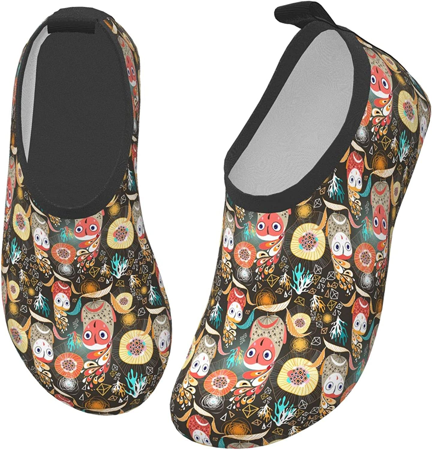 Colorful Halloween Owl Autumn Animal Children's Water Shoes Feel Barefoot for Swimming Beach Boating Surfing Yoga