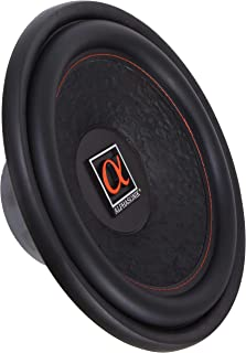 """Alphasonik HSW212 Hyper 200 Series 12"""" 1200 Watts Max / 400 Watts RMS Single 4 Ohm Car Subwoofer Stamped Alpha Steel Basket with High Grade Magnet Non Pressed Paper Cone Audio Speaker Bass Sub Woofer"""