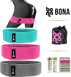 Bona Resistance Bands for Legs and Butt Bands for Working Out, Exercise Leg Bands Resistance Bands Set for Women