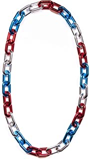 Windy City Novelties Patriot 4th of July Jumbo Chain Necklace Party Favors (Red/Silver/Blue) - USA Party Favors