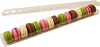 Clear Macaron Cookie Storage and Display Tray - Holds 15 Macarons - Made in France - Pack of 30