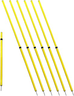 Bluedot Trading Soccer Agility Training Poles, Fixed or Adjustable (4,6,8pc-set)