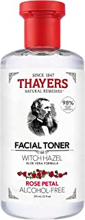 THAYERS Witch Hazel Rose Petal Face Toner, Natural, Alcohol Free with Aloe Vera, Hydrating and Refreshing for All Skin Typ...