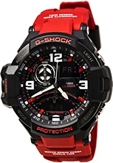 Casio G-Shock Analogue/Digital Gravitymaster Mens Black/Red Watch GA-1000-4BDR