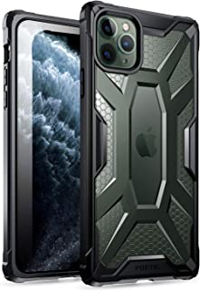 iPhone 11 Pro Max Case,  Poetic Premium Hybrid Protective Clear Bumper Cover,  Rugged Lightweight,  Military Grade Drop Tested,  Affinity Series,  for Apple iPhone 11 Pro Max 6.5 Inch,  Frost Clear/Black