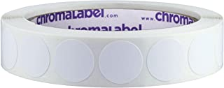 ChromaLabel 3/4 Inch Round Removable Color-Code Dot Stickers, 1000 per Roll, White