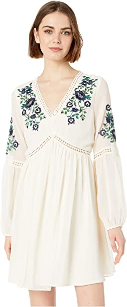 Lynsey Embroidered Peasant Dress