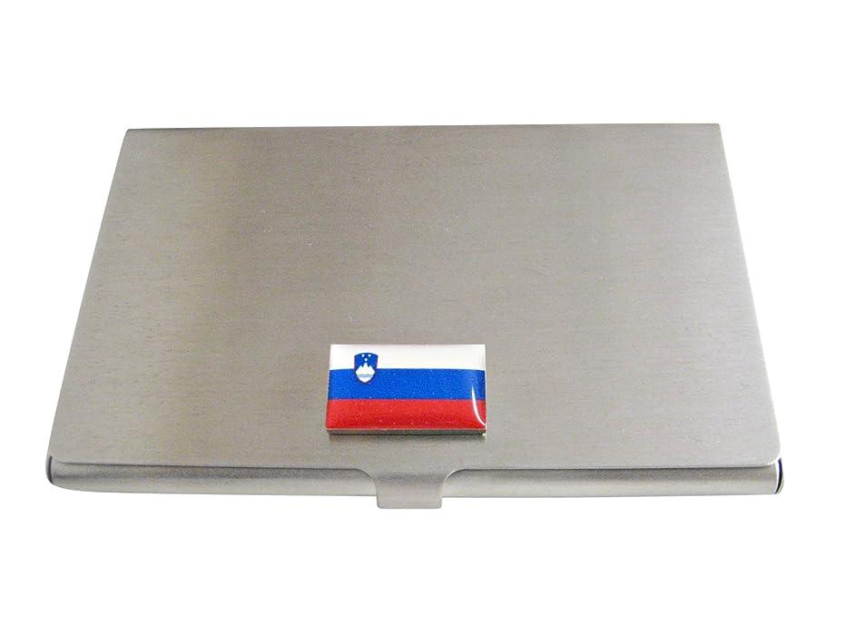 援助する私で出来ているSlovenia Flagビジネスカードホルダー