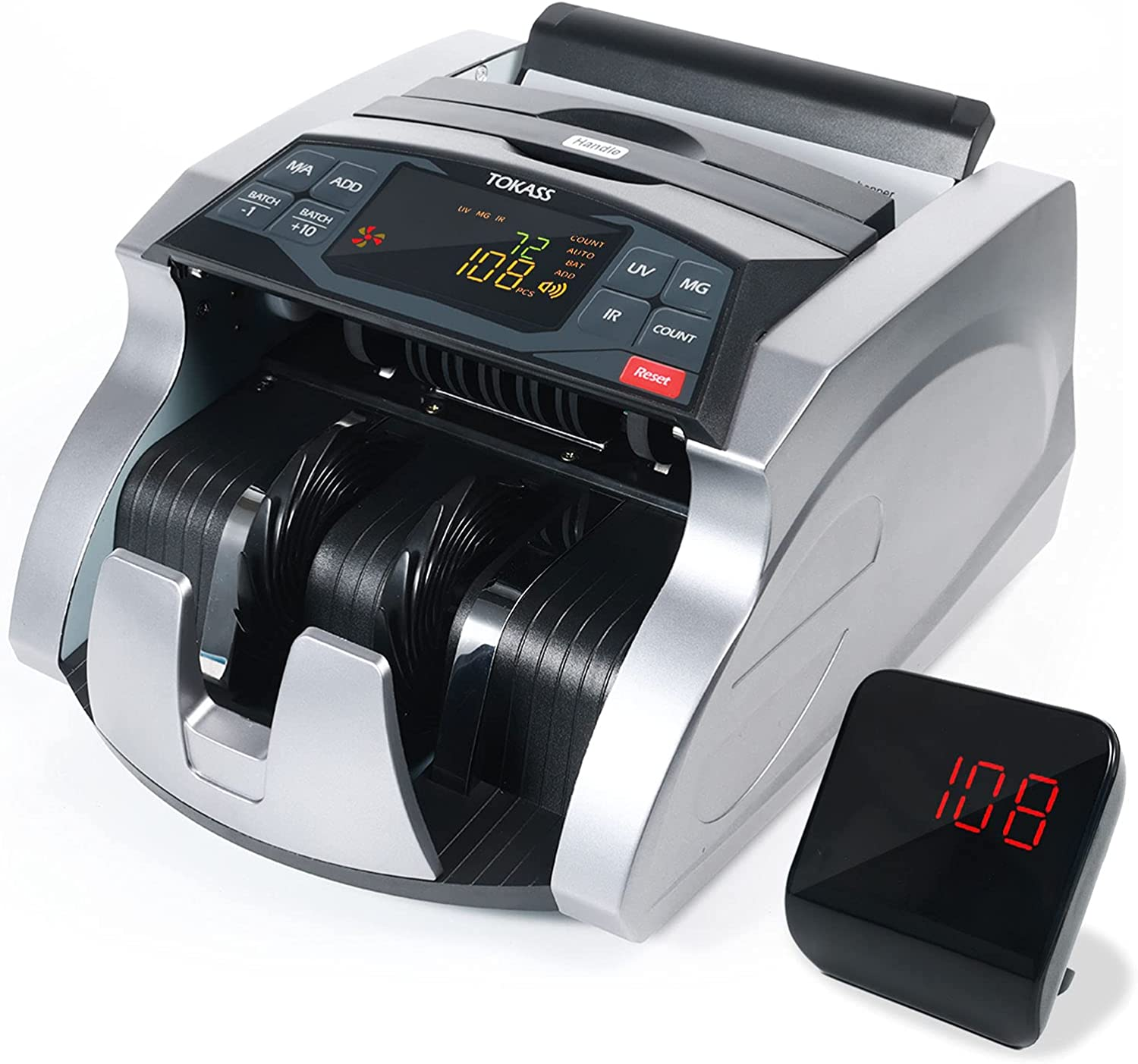 TOKASS Money Counter with excellence UV MG C Counterfeit Bill Max 63% OFF Detection IR