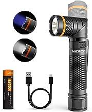 NICRON LED zaklamp USB C oplaadbare handheld 2 in 1 UV-zaklamp, 1000 lumen 4 modi krachtige fakkel, waterdichte IP65 magne...
