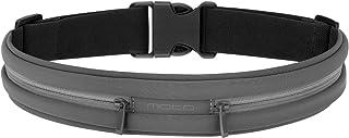 MoKo 运动跑步腰带,户外双袋防汗反光腰包,健身锻炼腰带腰包,适用于 iPhone X/Xr/Xs/Xs Max/8/7/6S Plus、Galaxy S9/S8 Plus/S7 Edge/Note 9/8