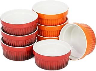 com-four® 8x Ragout Fin Bowl - XXL Postre bowl en naranja y