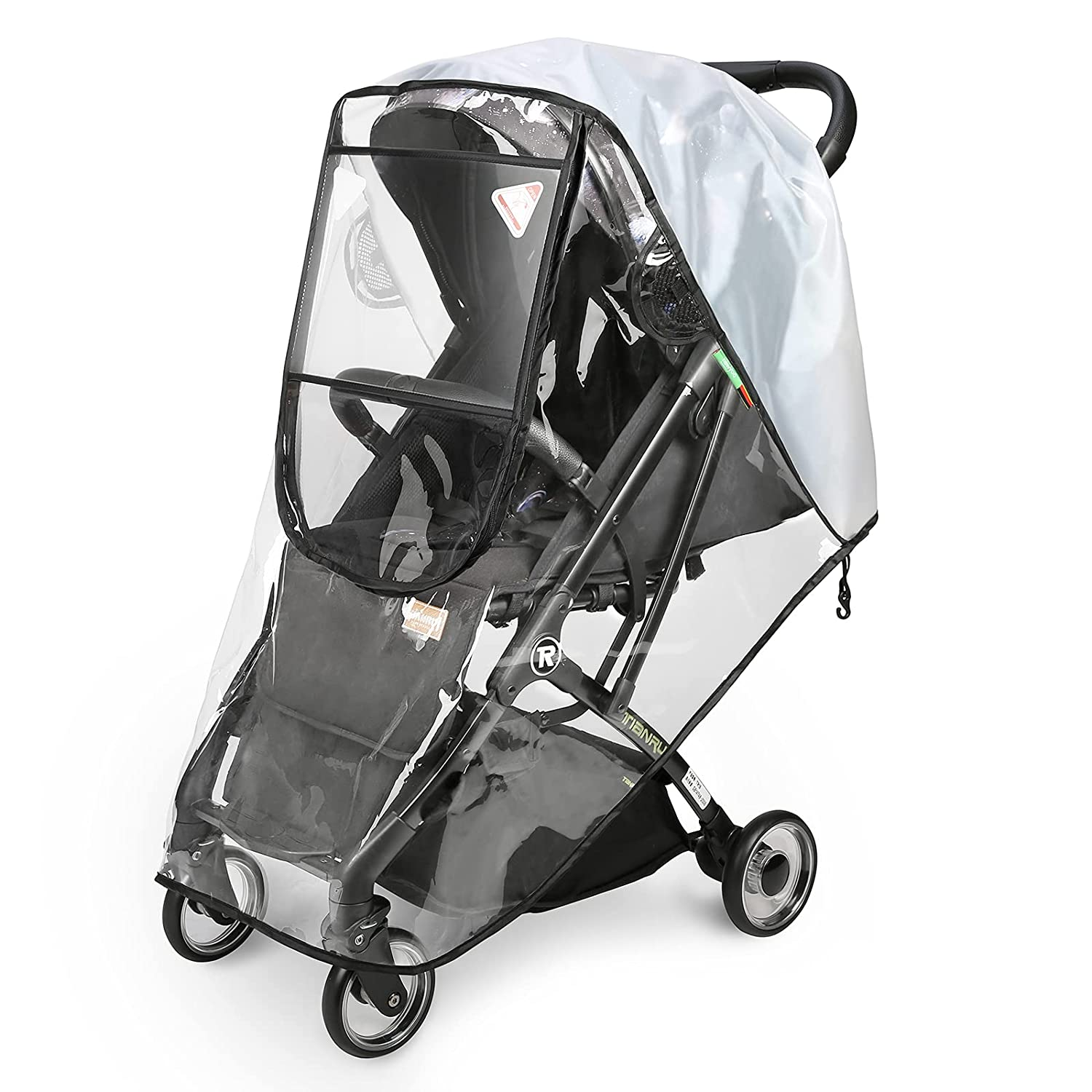 newyoo Plastic Stroller Rain Cover Universal Weather Shield Waterproof Windproof Stroller Accessory with Ventilation for All-Around Protection Food-Grade EVA Protect from Rain, Wind, Dust, Insects