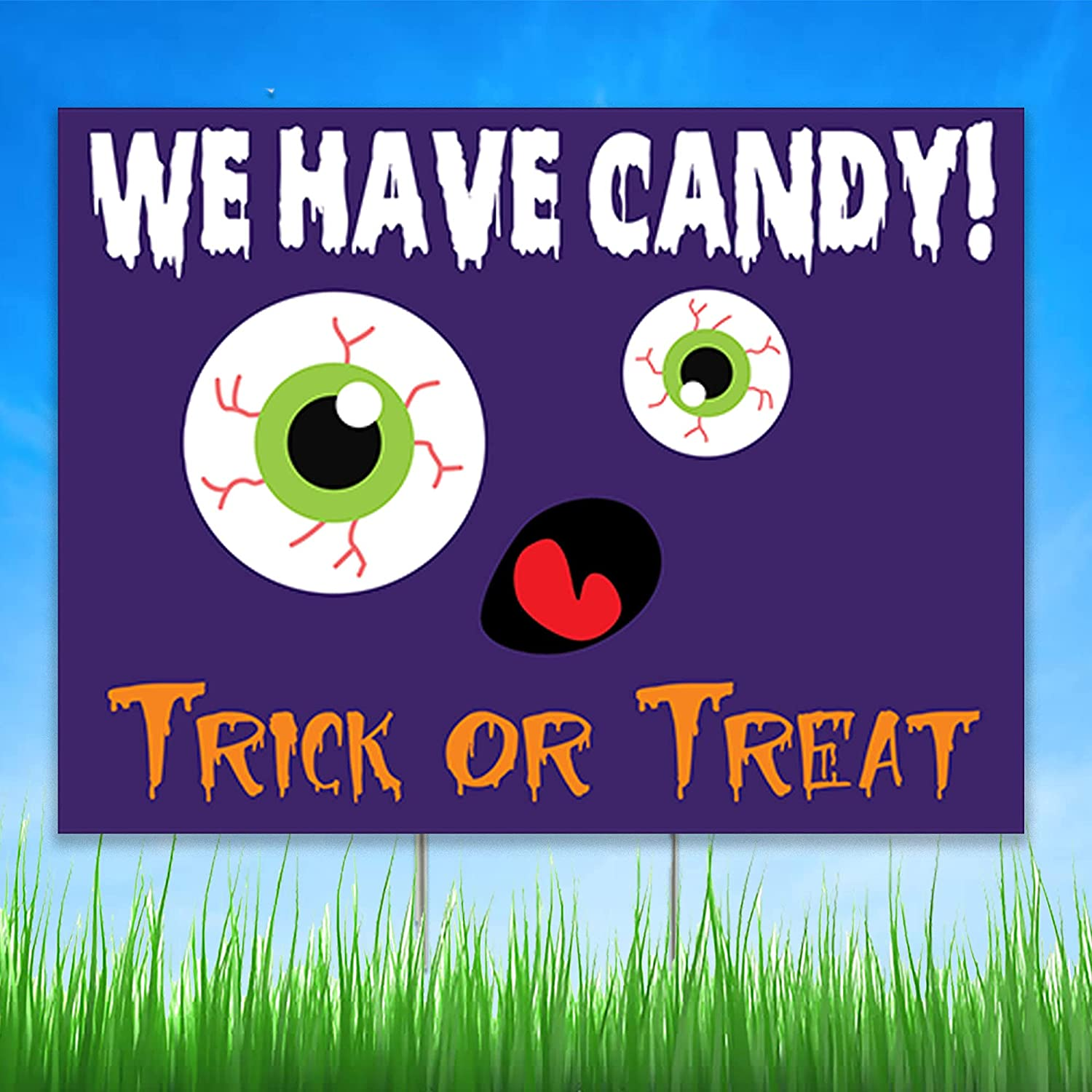 We Have Candy Halloween High quality new Wholesale Yard Trick Sign Treat or