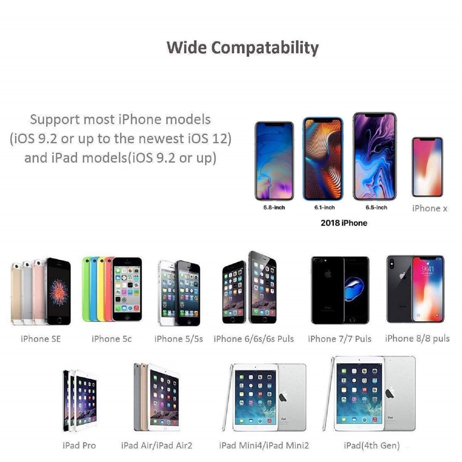 iPod on HD TV//Monitor//Projector iPad Lightning to HDMI Support iOS 13 Apple MFi Certified 1080P HDMI Sync Screen Digital AV Audio Connector with Charging Port for iPhone 11//11 Pro//XS//XR//X 8 7